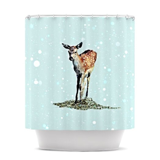 KESS InHouse Fawn Polyester Shower Curtain