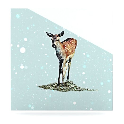 KESS InHouse Fawn by Monika Strigel Graphic Art Plaque