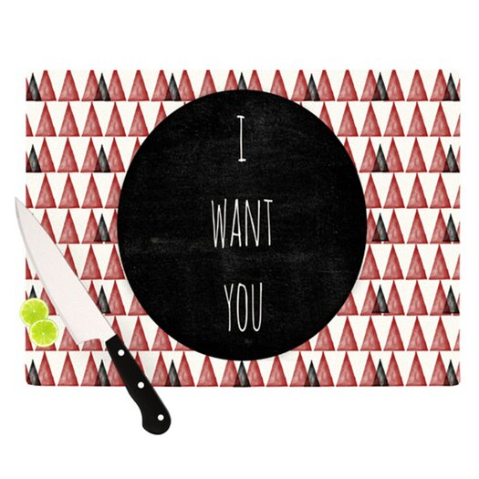 KESS InHouse I Want You Cutting Board