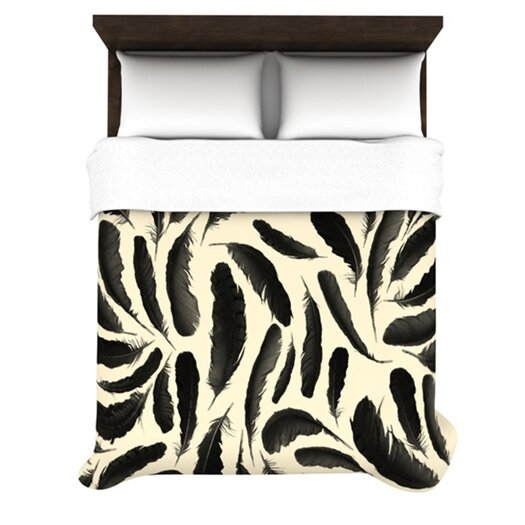 KESS InHouse Feather Pattern Duvet Cover