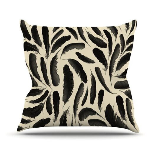 KESS InHouse Feather Pattern Throw Pillow