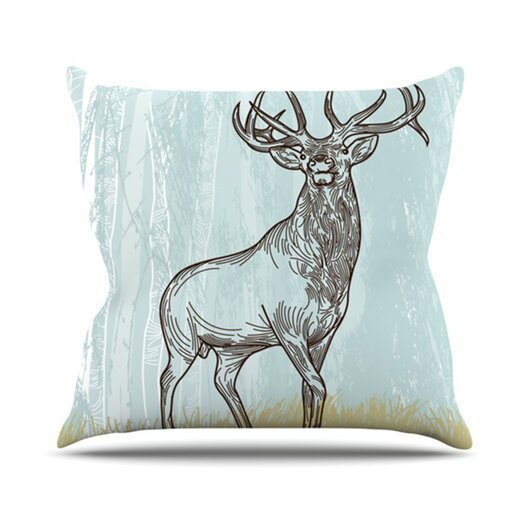 KESS InHouse Elk Scene Throw Pillow