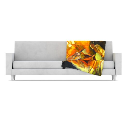 KESS InHouse Reflecting Light Fleece Throw Blanket