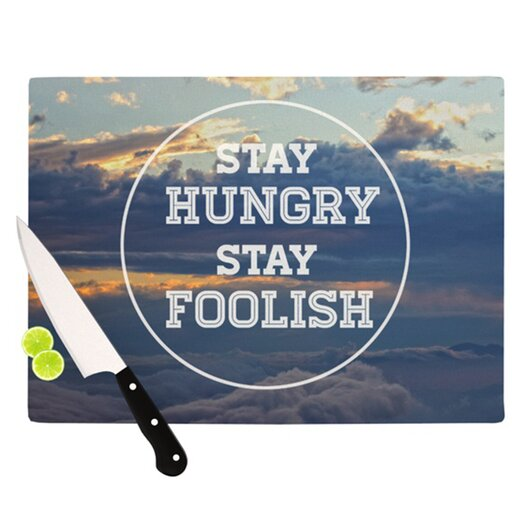 KESS InHouse Stay Hungry Cutting Board
