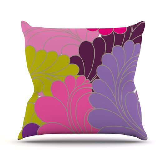 KESS InHouse Moroccan Leaves Throw Pillow