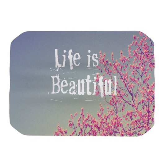 KESS InHouse Life Is Beautiful Placemat