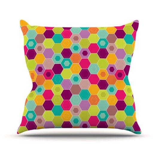 KESS InHouse Arabian Bee Throw Pillow