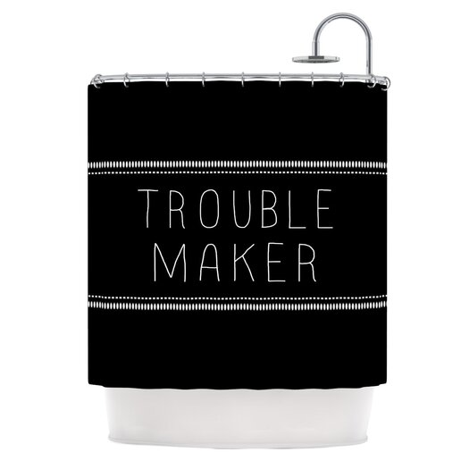 KESS InHouse Trouble Maker Polyester Shower Curtain