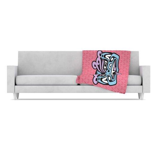 KESS InHouse Fu Dog Fleece Throw Blanket