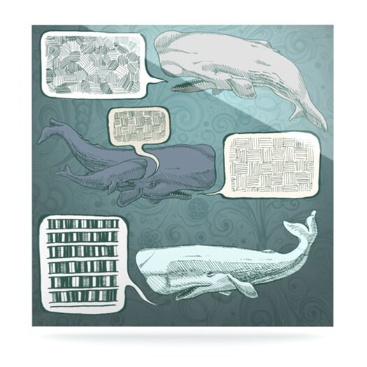 KESS InHouse Whale Talk by Sophy Tuttle Graphic Art Plaque