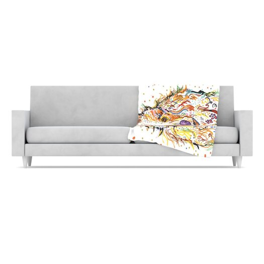 KESS InHouse Lily Fleece Throw Blanket