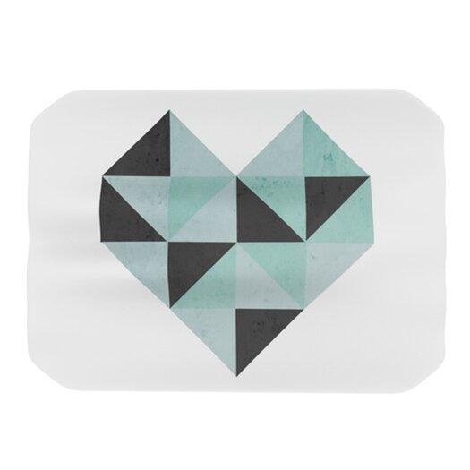KESS InHouse Geo Heart Placemat