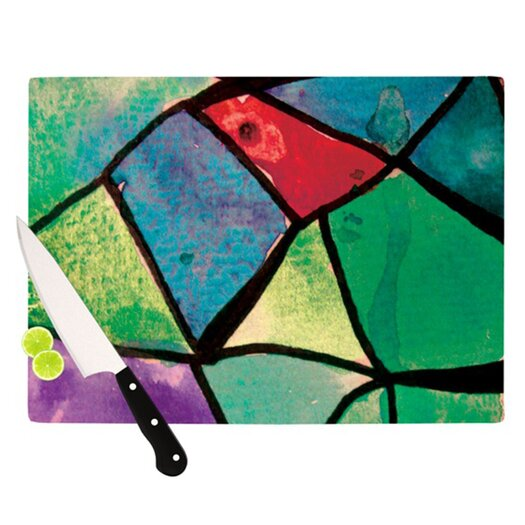 KESS InHouse Stain Glass 1 Cutting Board
