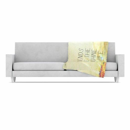 KESS InHouse Friends Sunshine Fleece Throw Blanket