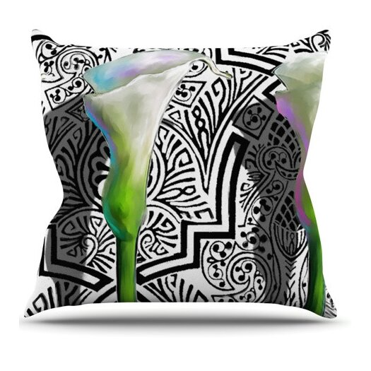 KESS InHouse Three Lily Throw Pillow