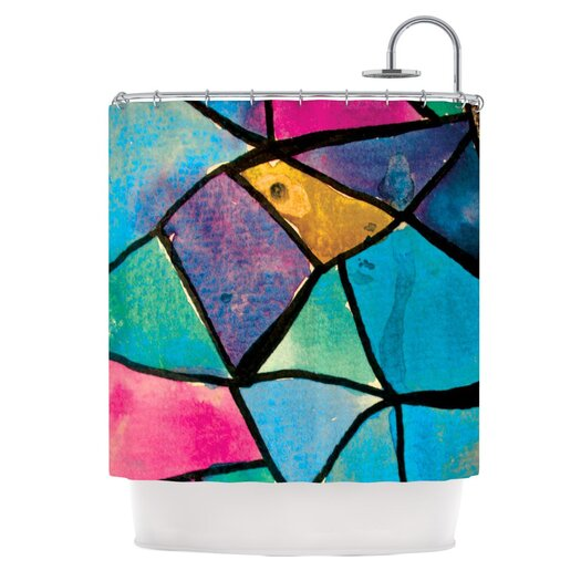 KESS InHouse Stain Glass 2 Polyester Shower Curtain