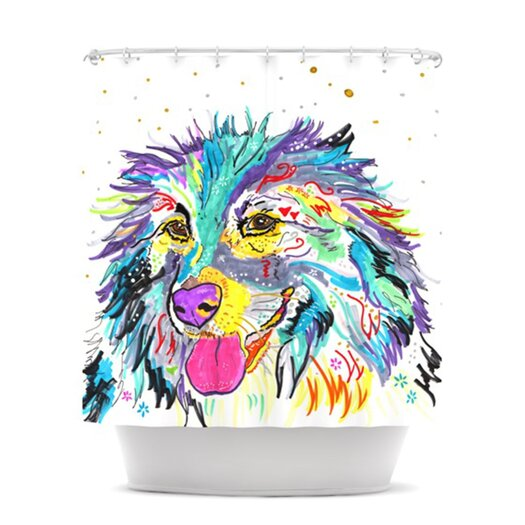 KESS InHouse Daily Polyester Shower Curtain