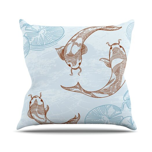 KESS InHouse Koi Throw Pillow