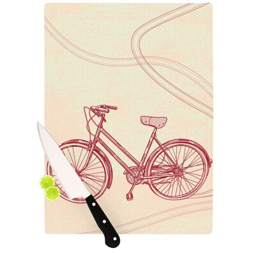 KESS InHouse Bicycle Cutting Board