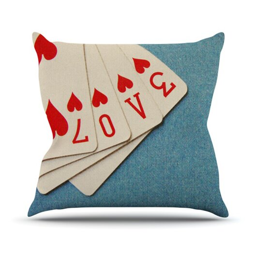 KESS InHouse Love Throw Pillow