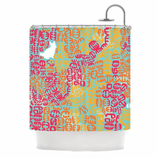 KESS InHouse Oliver Polyester Shower Curtain
