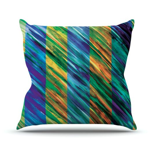 KESS InHouse Set Stripes II Throw Pillow