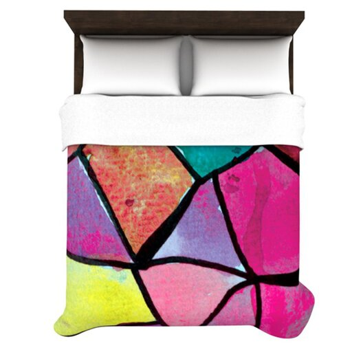 KESS InHouse Stain Glass 3 Duvet Cover