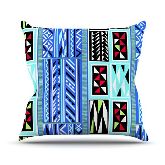 KESS InHouse American Blanket Pattern Throw Pillow