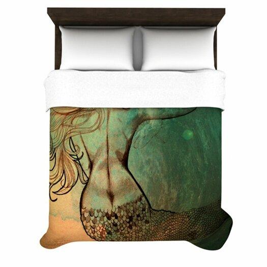 KESS InHouse Poor Mermaid Duvet Cover