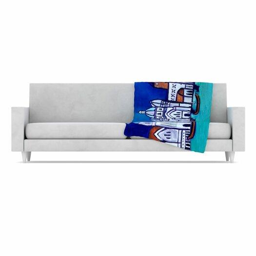 KESS InHouse Venice Fleece Throw Blanket