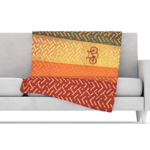 KESS InHouse Lost Microfiber Fleece Throw Blanket