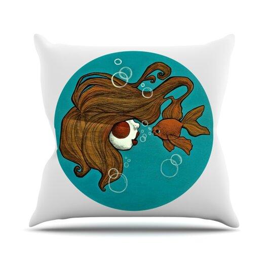 KESS InHouse Goldfish Throw Pillow