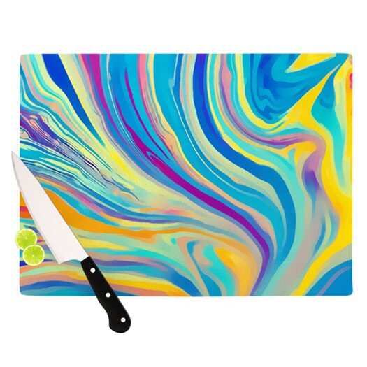 KESS InHouse Rainbow Swirl Cutting Board