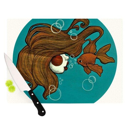 KESS InHouse Goldfish Cutting Board