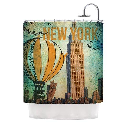 KESS InHouse New York Polyester Shower Curtain