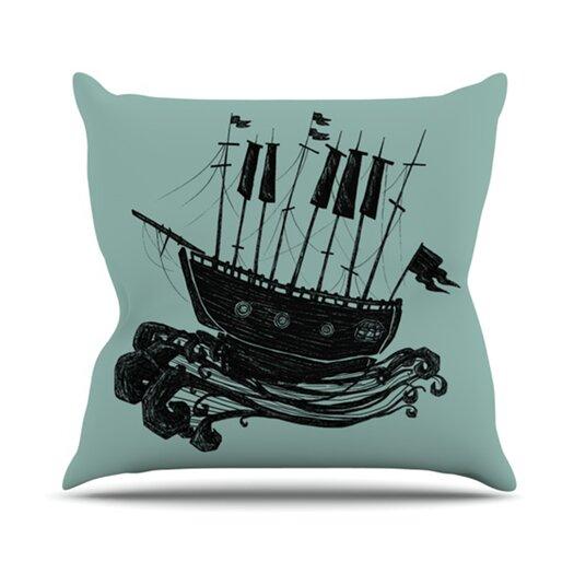 KESS InHouse Ship Throw Pillow