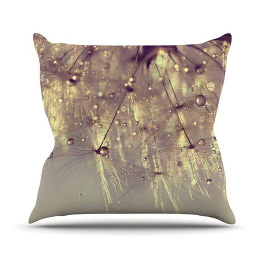KESS InHouse Sparkles of Gold Throw Pillow