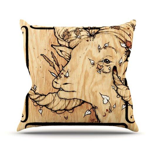 KESS InHouse Ram Throw Pillow