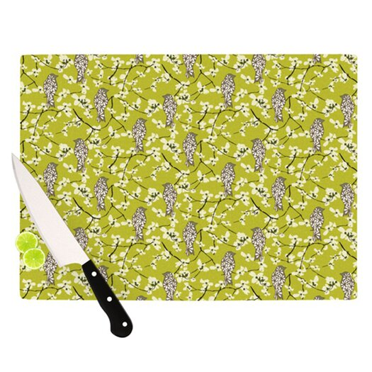 KESS InHouse Blossom Bird Cutting Board