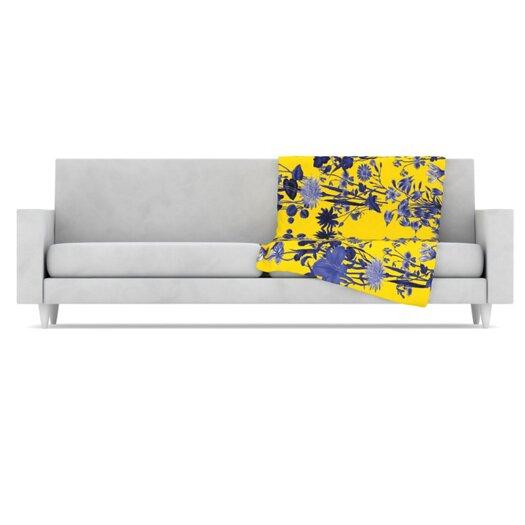 KESS InHouse Bloom Flower Microfiber Fleece Throw Blanket
