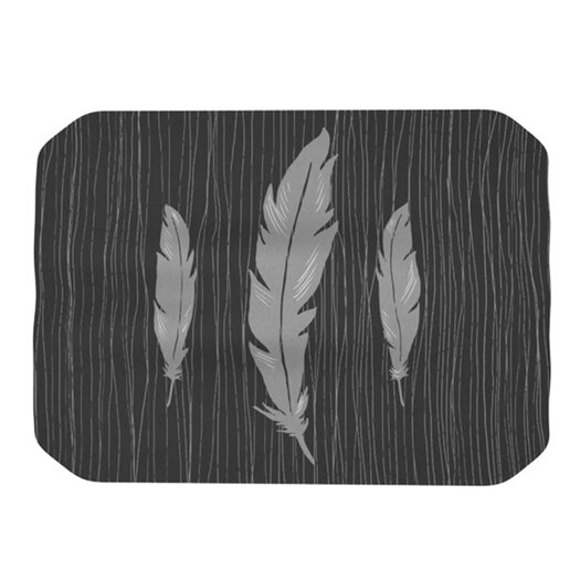 KESS InHouse Feathers Placemat