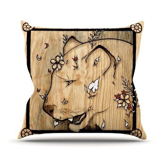 KESS InHouse Panther Throw Pillow