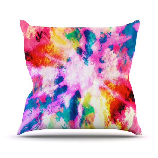 KESS InHouse Technicolor Clouds Throw Pillow