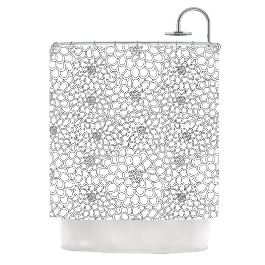 KESS InHouse Flowers Polyester Shower Curtain