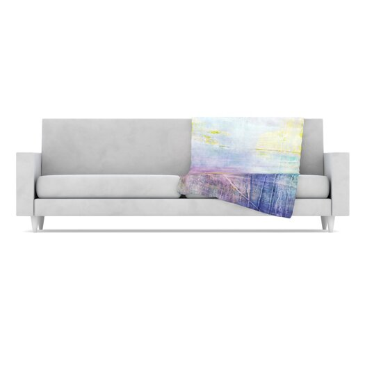 KESS InHouse Color Grunge Microfiber Fleece Throw Blanket
