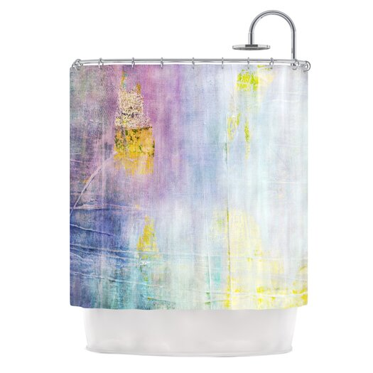 KESS InHouse Color Grunge Polyester Shower Curtain