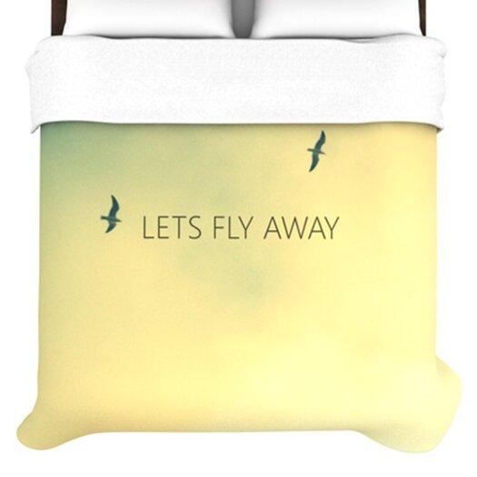 KESS InHouse Let's Fly Away Duvet Cover