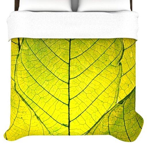 KESS InHouse Every Leaf a Flower Duvet Cover