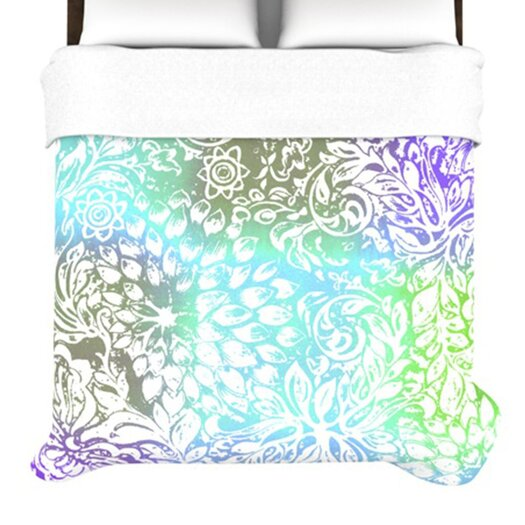 KESS InHouse Blue Bloom Softly for You Duvet Cover