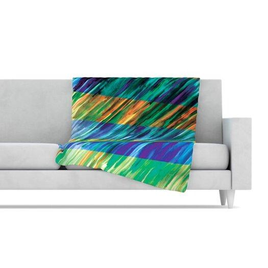 KESS InHouse Set Stripes II Fleece Throw Blanket